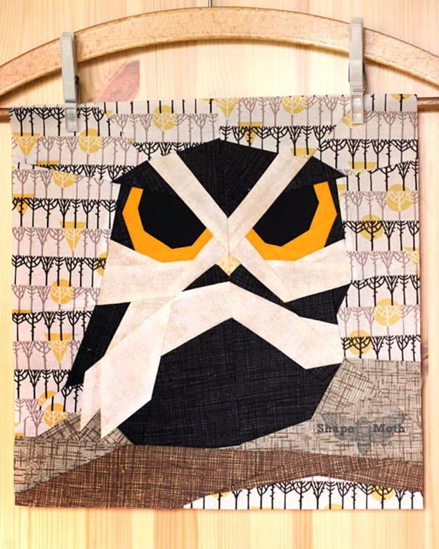 Free quilt pattern owl design ideas