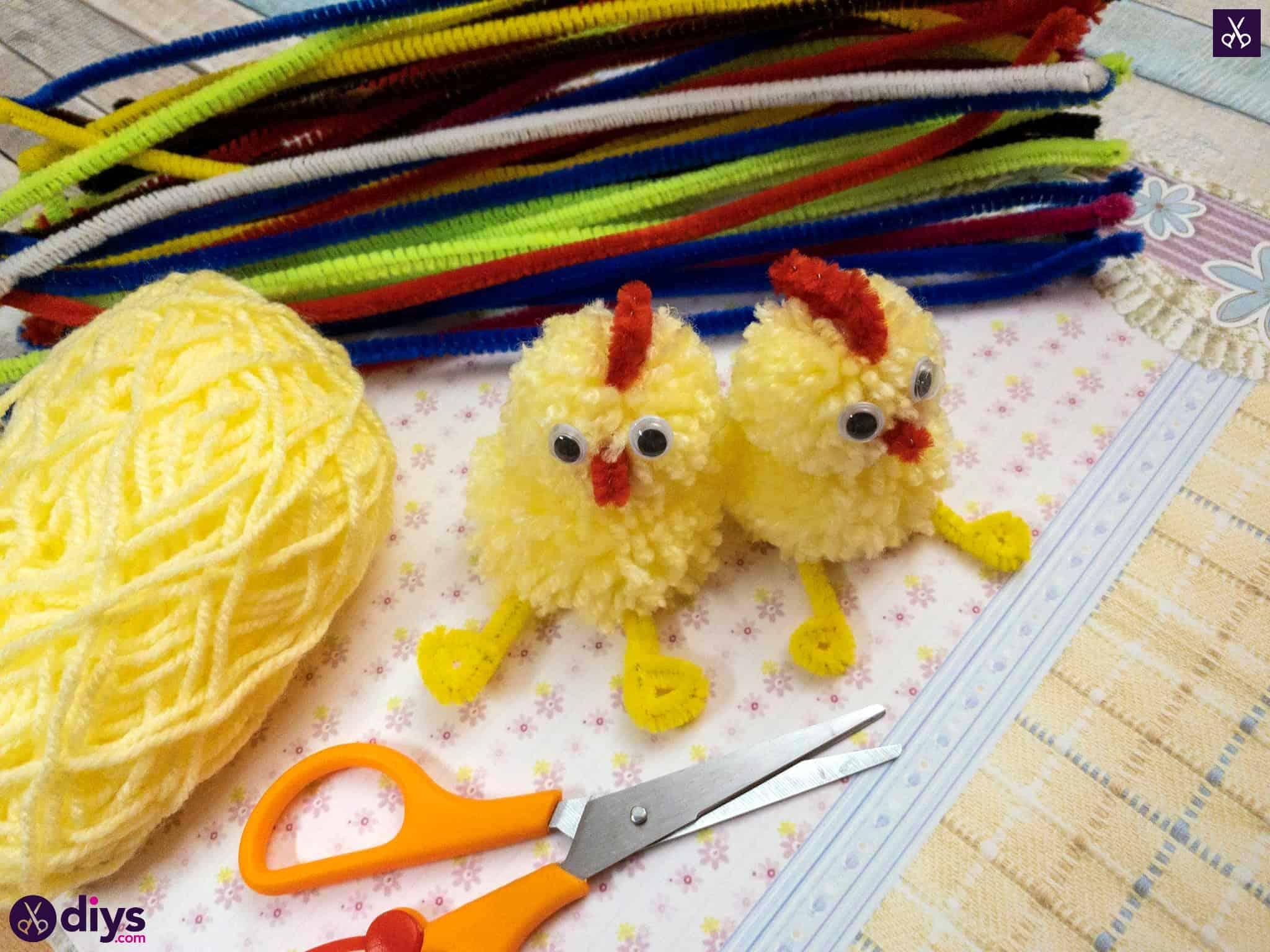 Funny how to make a pom pom chick