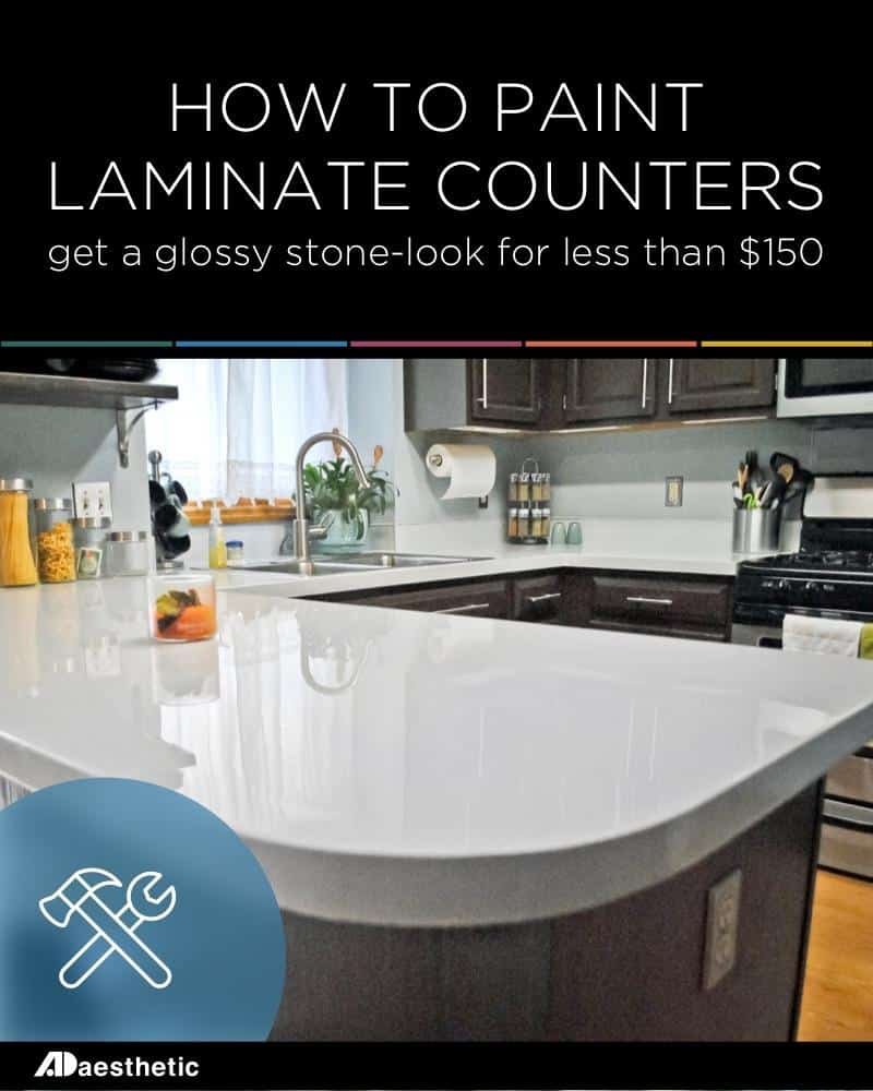 Glossy countertop makeover