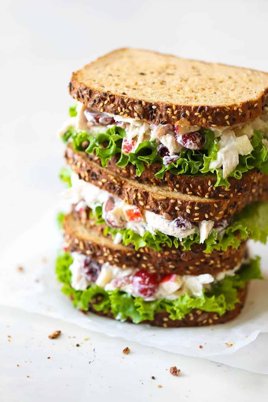 Greek yogurt chicken salad sandwichimg 0271edit