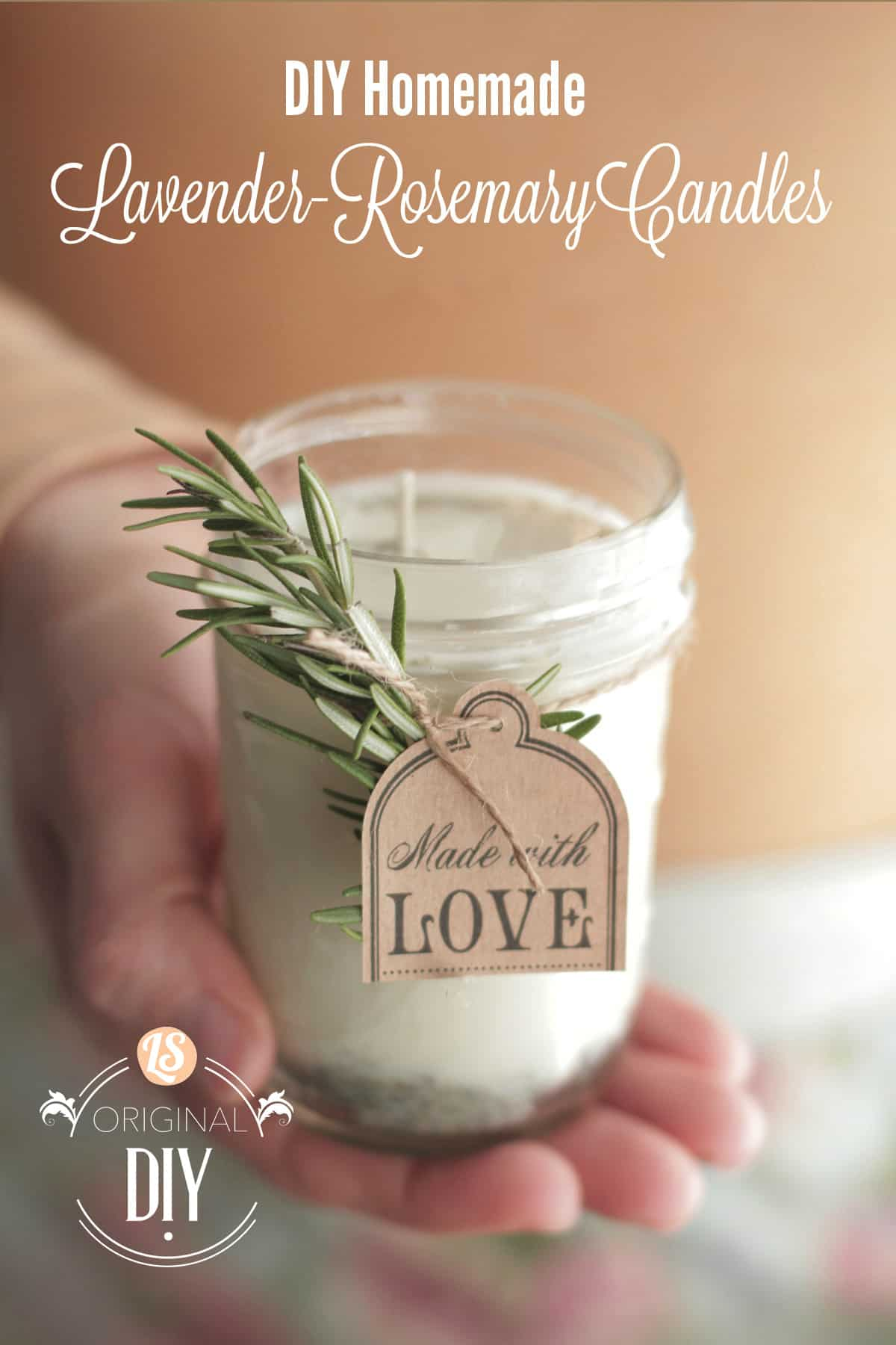 Homeamde lavender rosemary candles