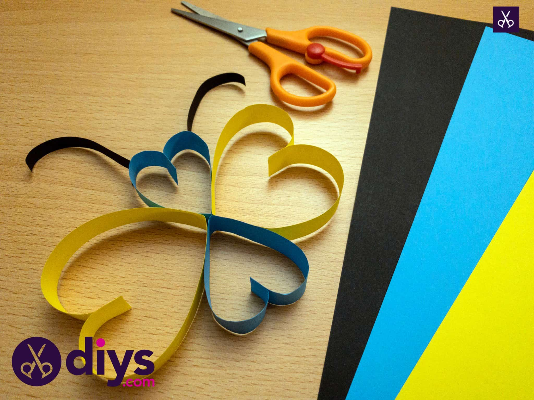 How to make a paper heart butterfly for kids