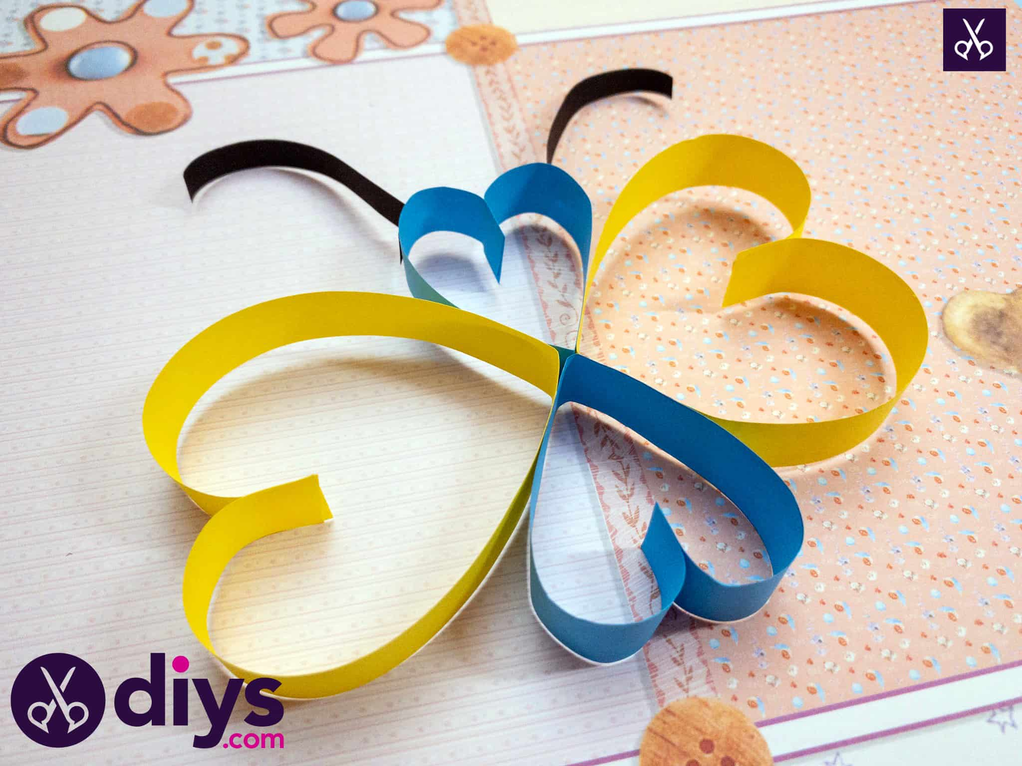 How to make a paper heart butterfly simple paper crafts