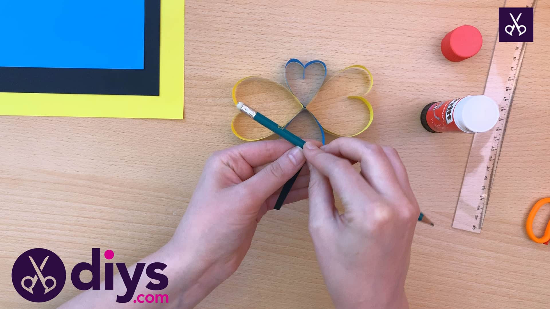 How to make a paper heart butterfly top