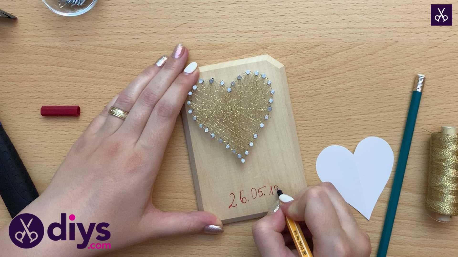 How to make mini heart string art custom