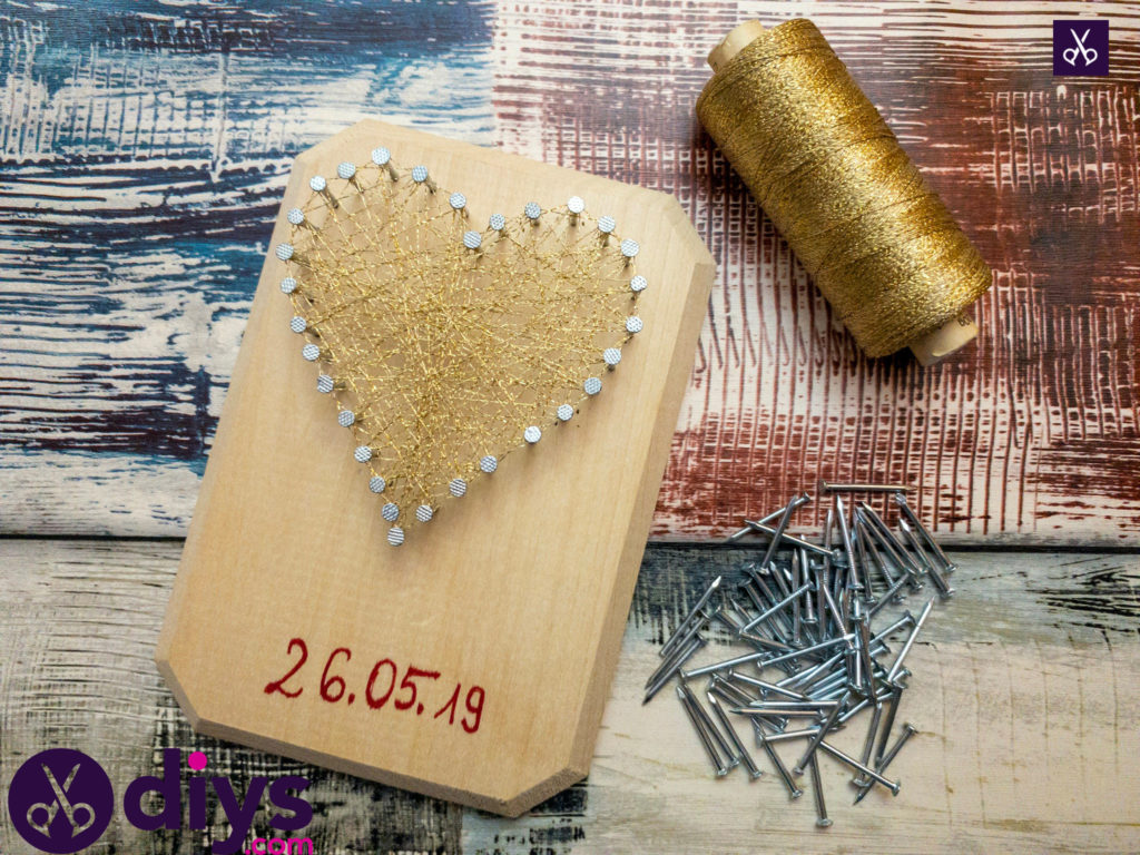 How to make mini heart string art materials