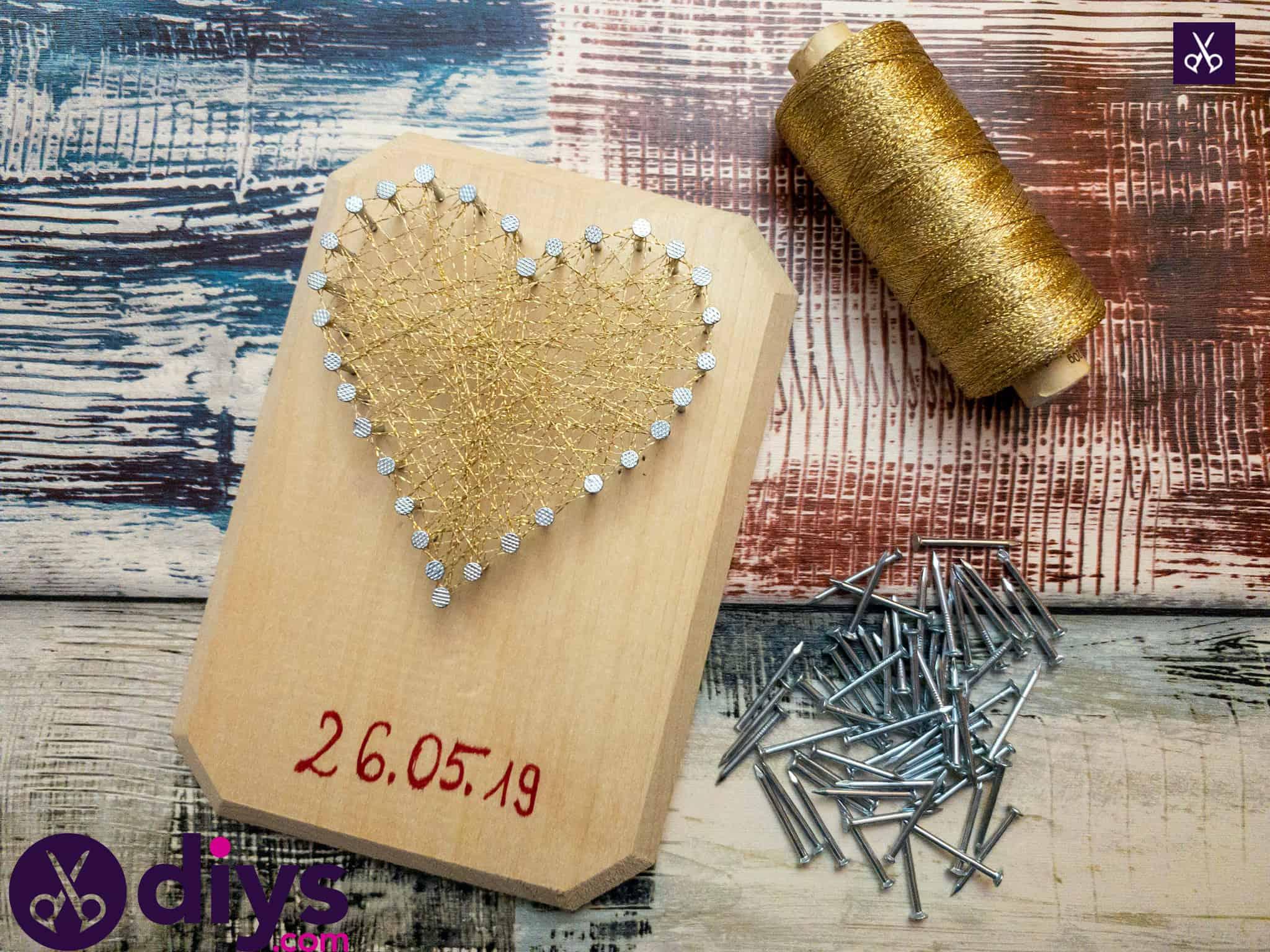 How to make mini heart string art materials