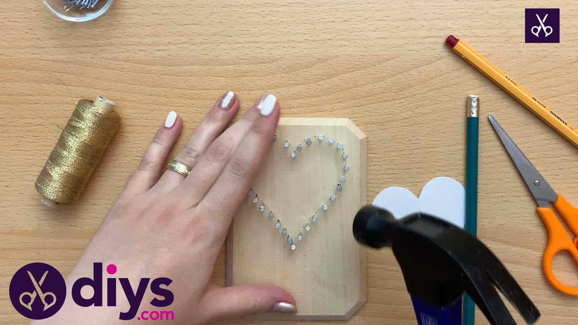 How to make mini heart string art top
