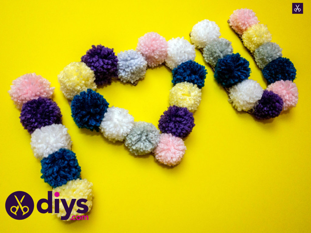 How to make pom pom letters craft