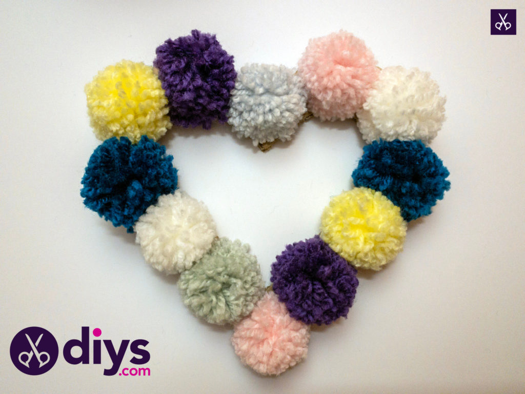 How to make pom pom letters hearth