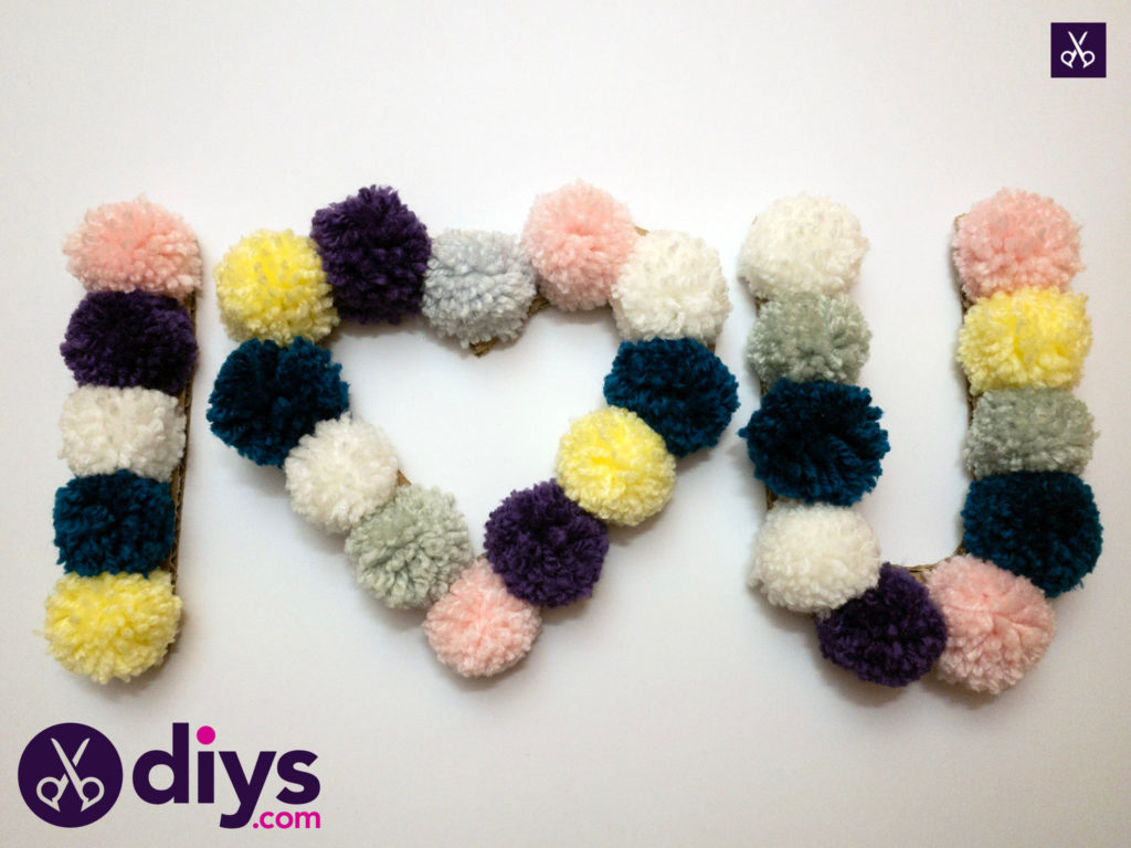 How to make pom pom letters simple craft