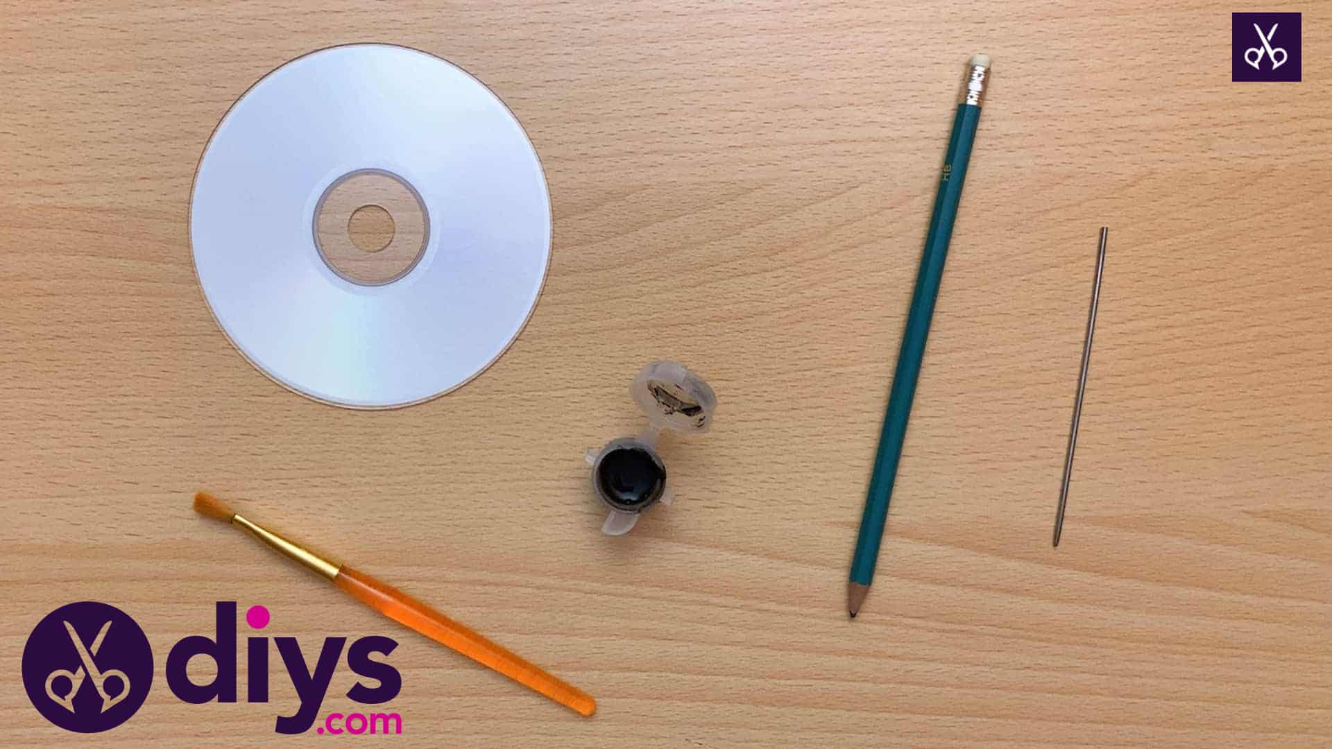 How to make recycled cd art step by step