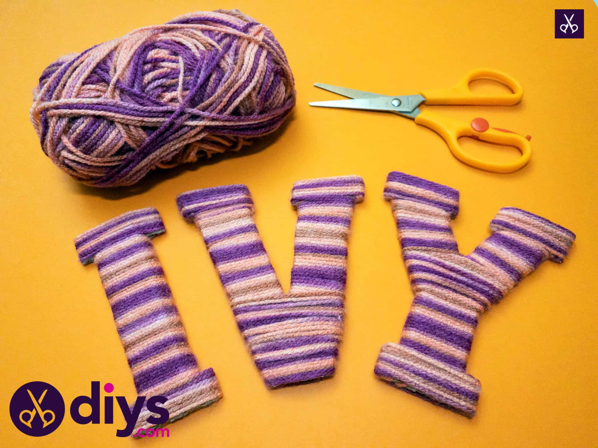 How to make yarn letters project