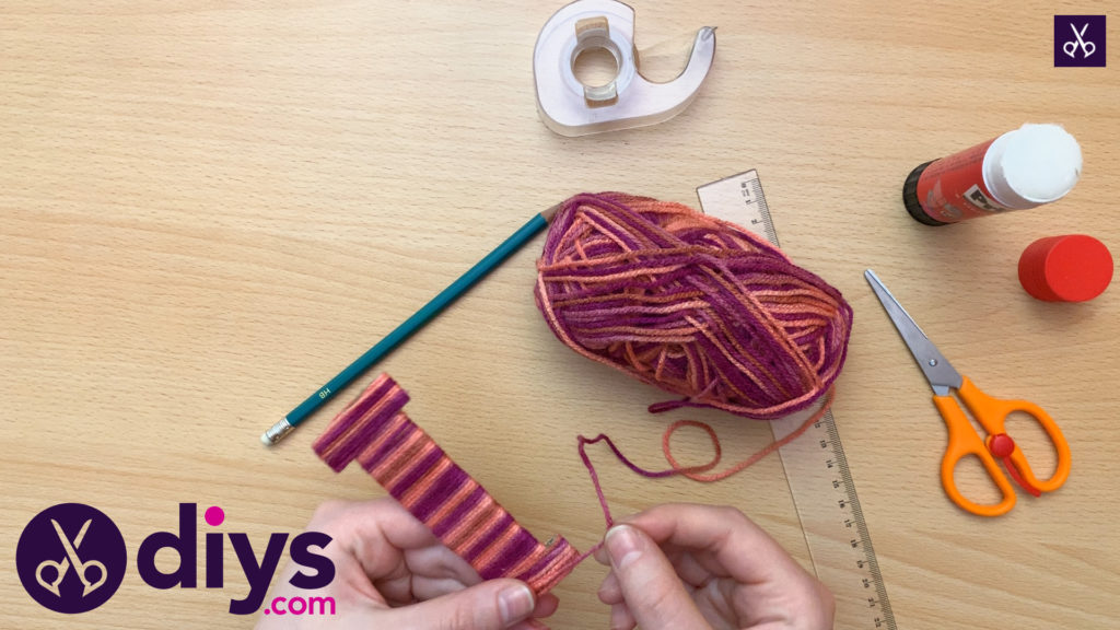 How to make yarn letters step 4