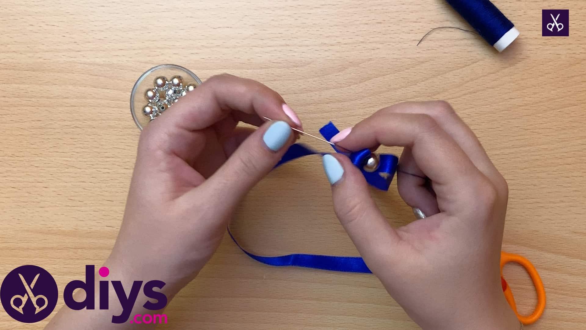How to make a pearl bracelet step 4