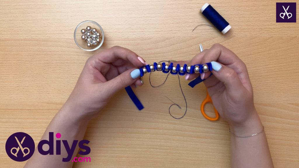 How to make a pearl bracelet step 6