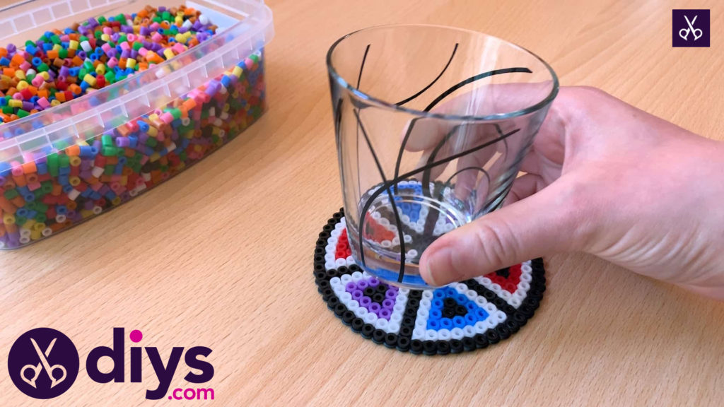 How to make a perler bead cup holder coaster