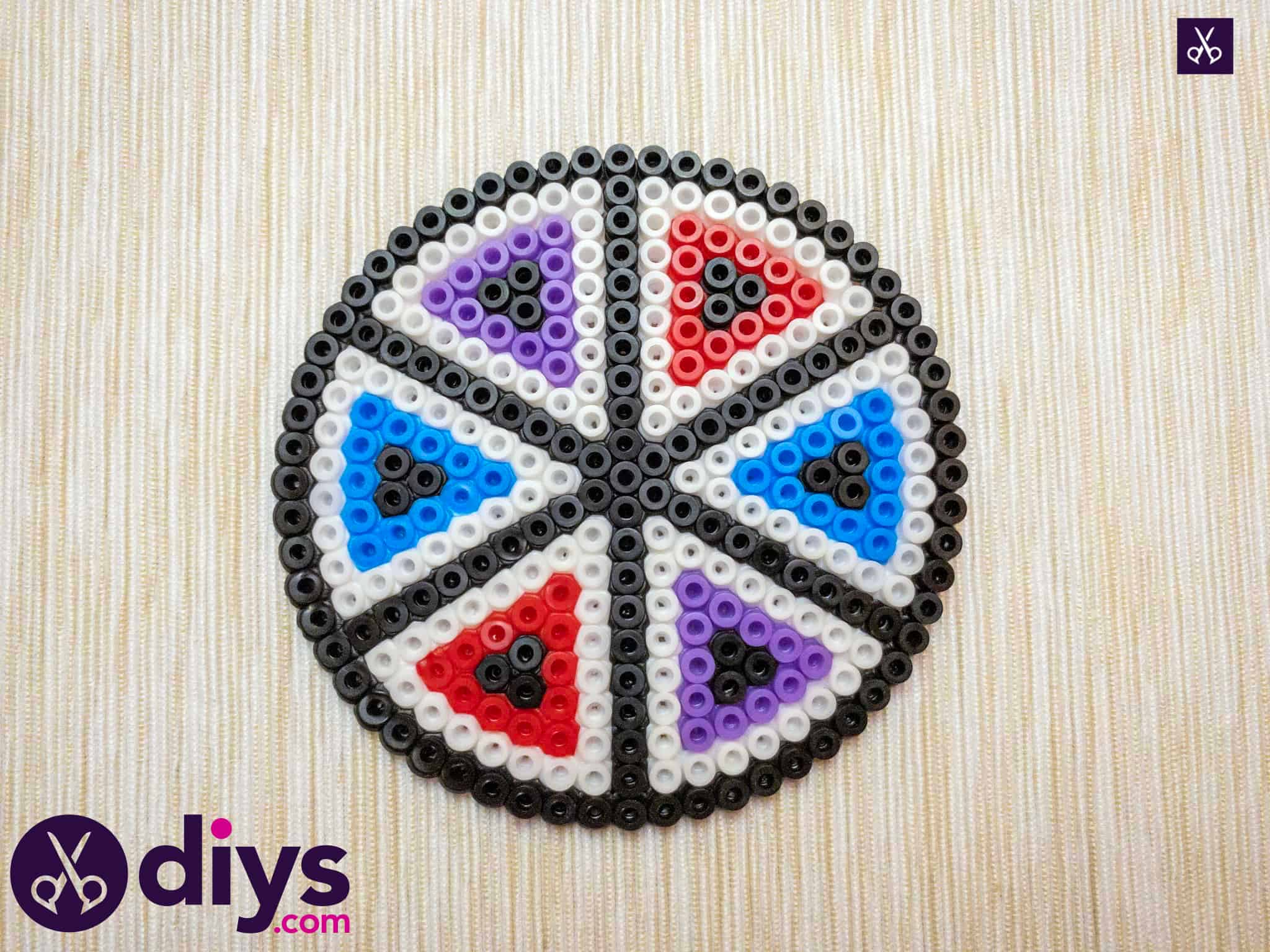 How to make a perler bead cup holder coloful