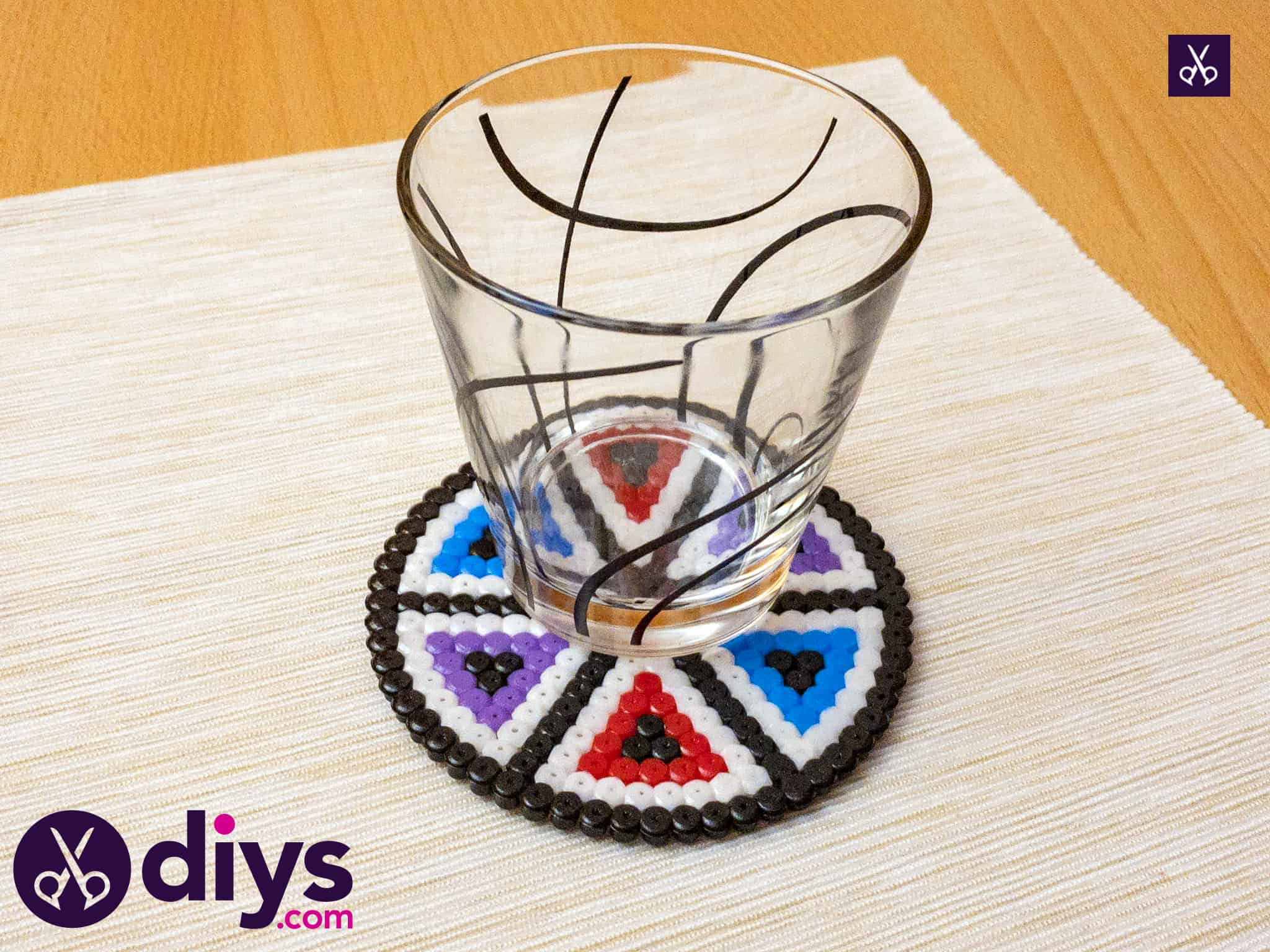 How to make a perler bead cup holder craft