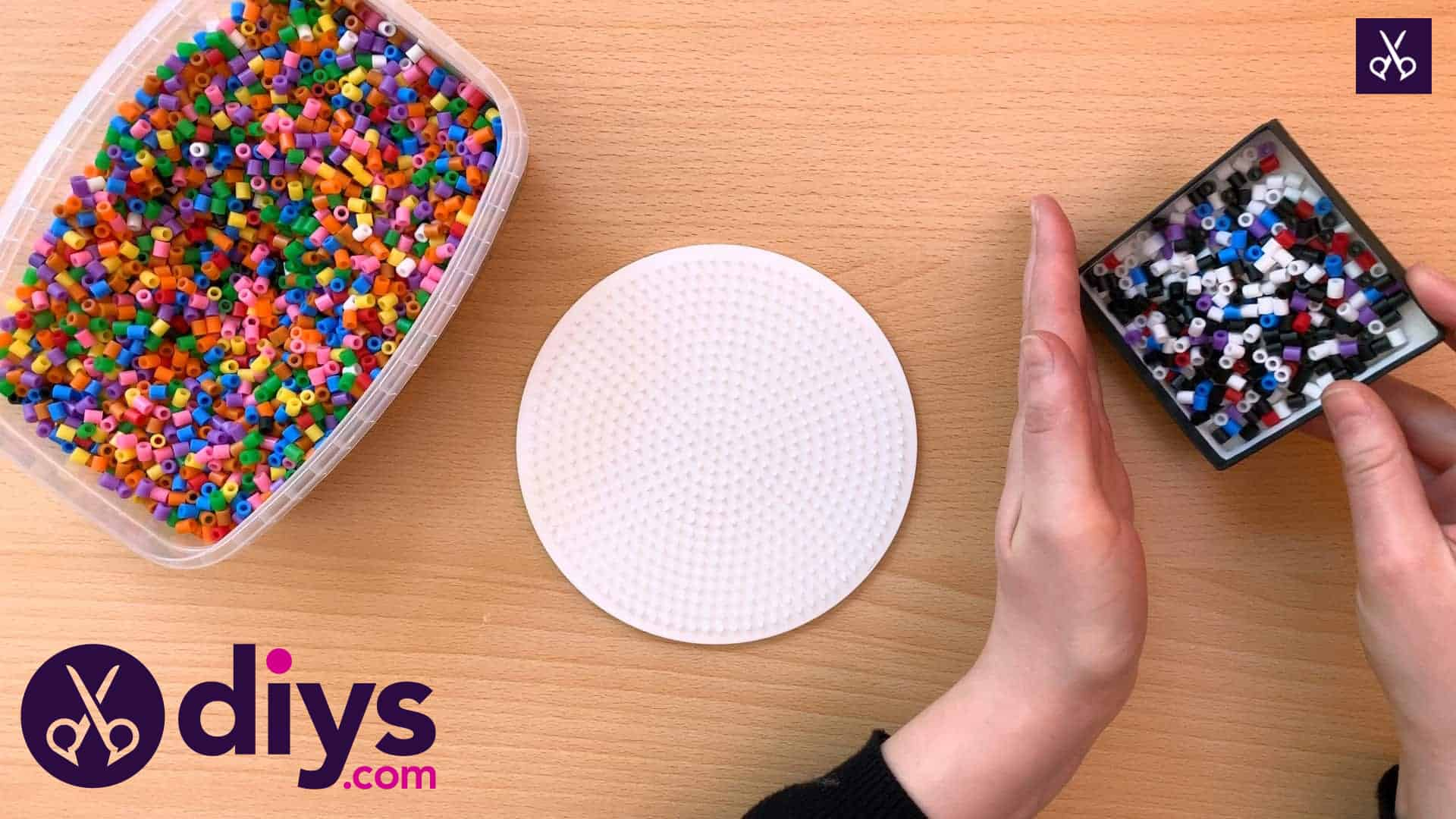 How to make a perler bead cup holder step 1