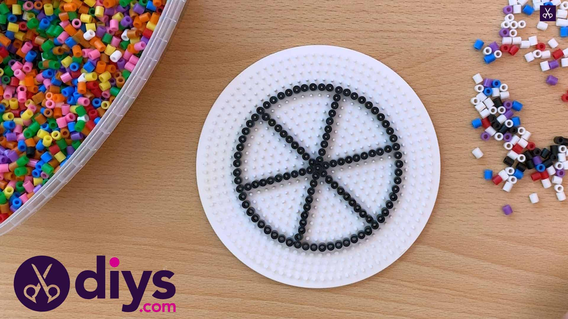 How to make a perler bead cup holder top