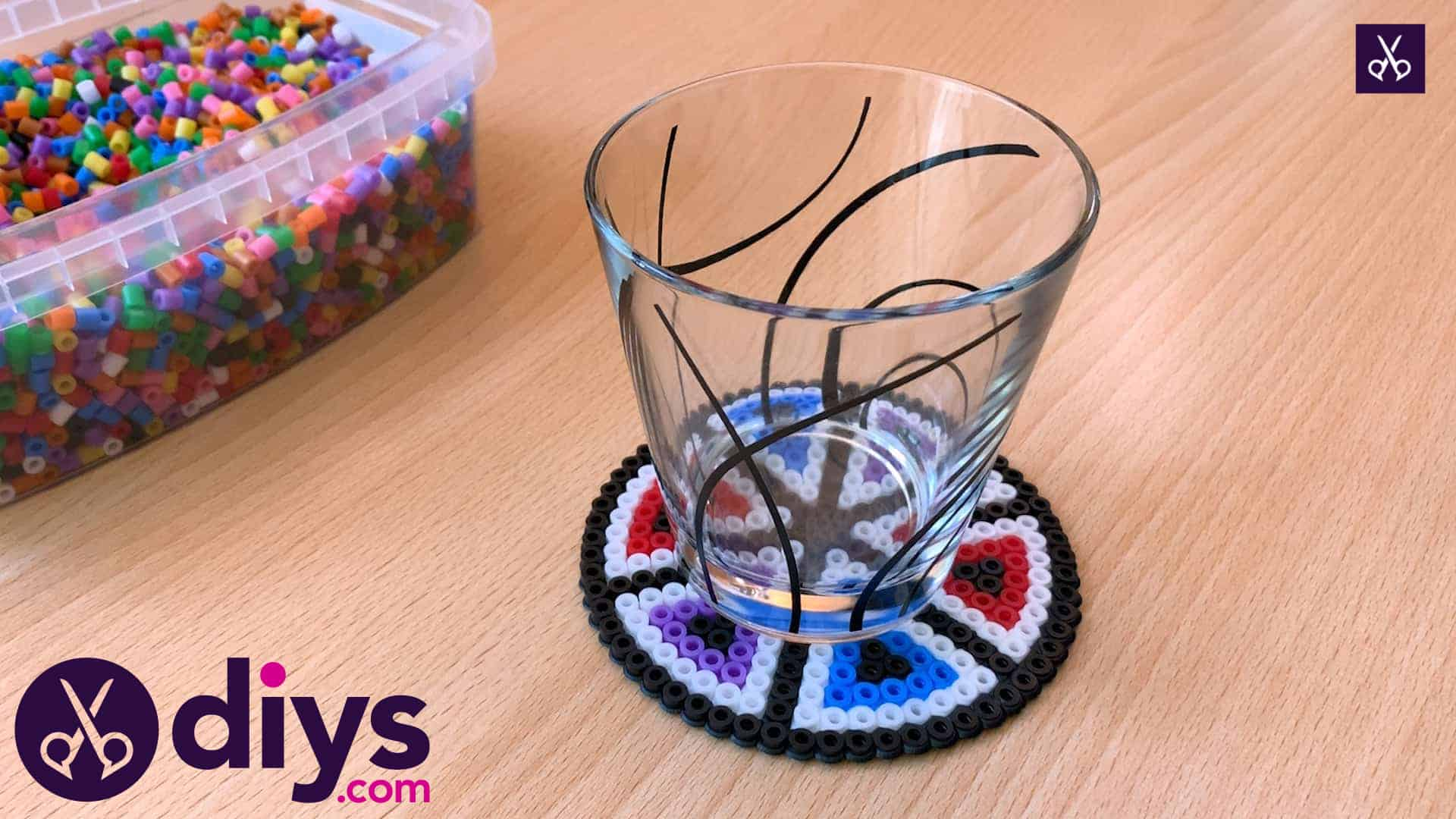 How to make a perler bead cup holder