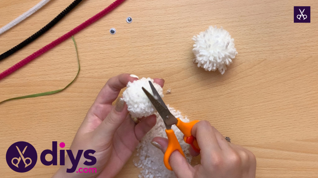 How to make a pom pom rabbit craft