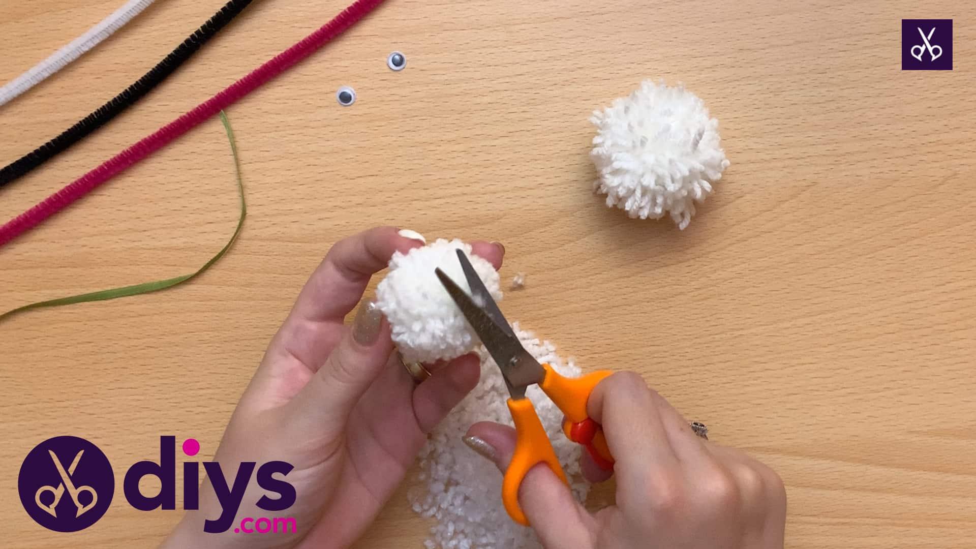 How to make a pom pom rabbit craft