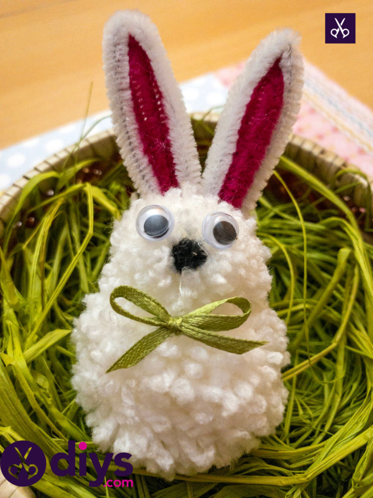 How to make a pom pom rabbit basket