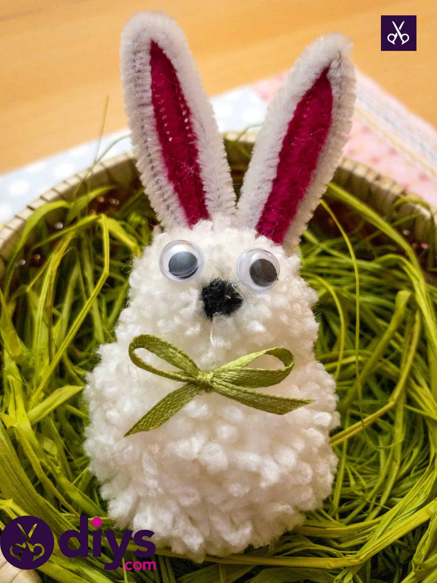 How to make a pom pom rabbit basket