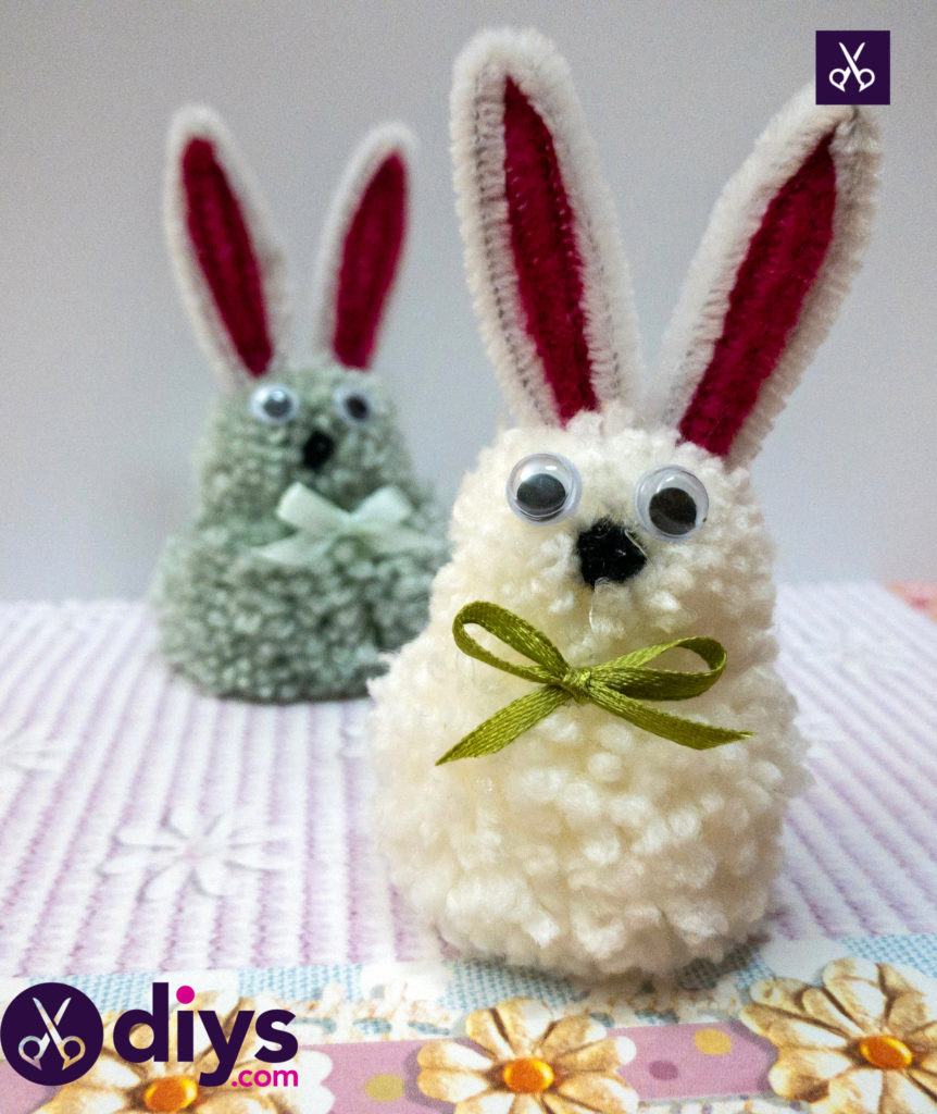 How to make a pom pom rabbit for easter