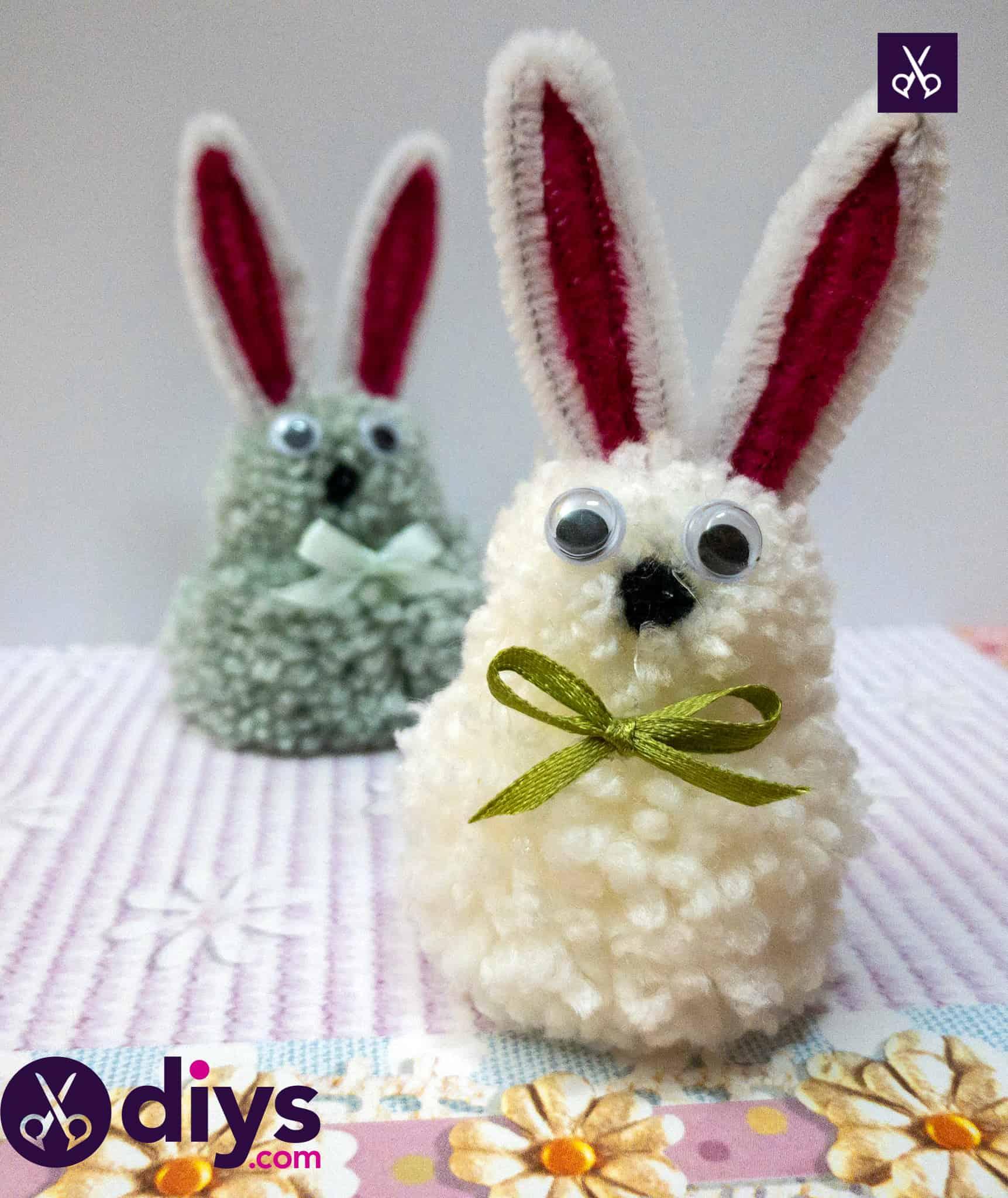 How to make a pom pom rabbit for easter