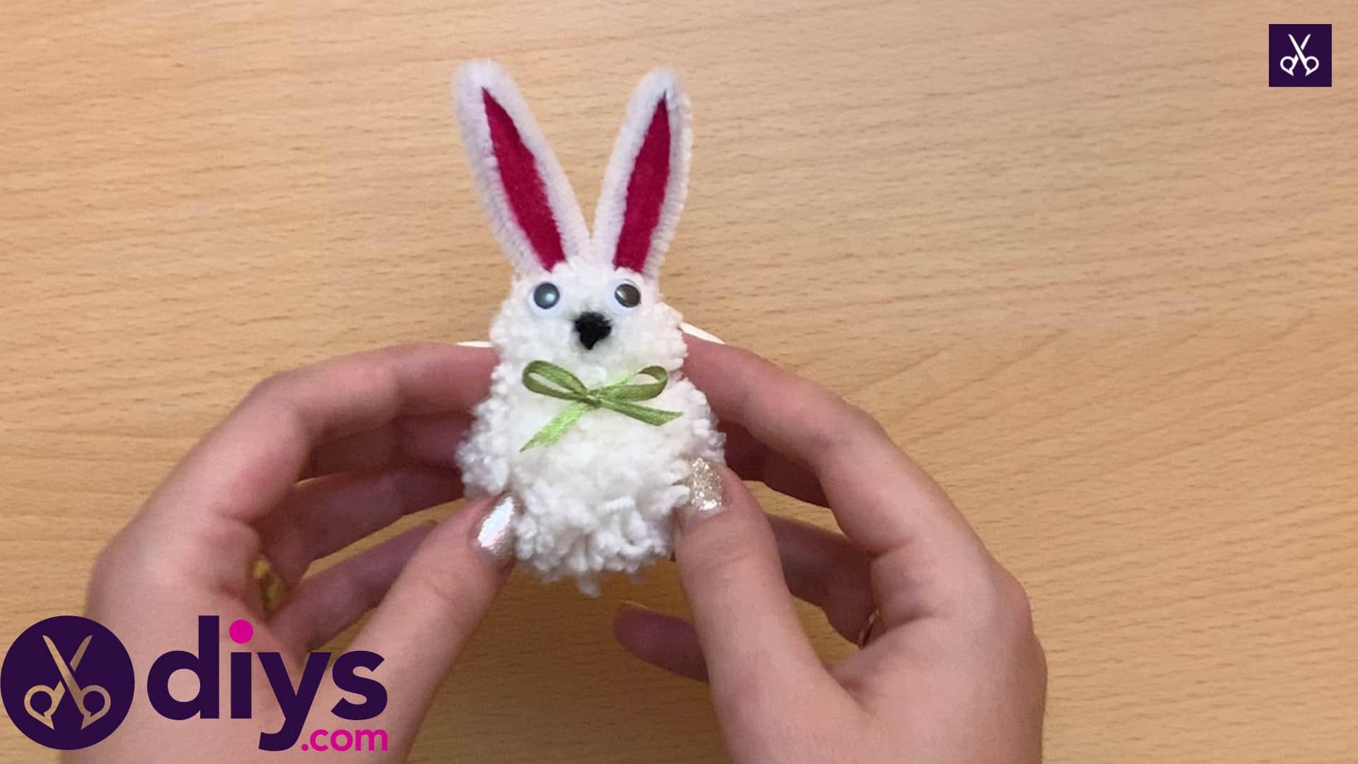 How to make a pom pom rabbit for kids