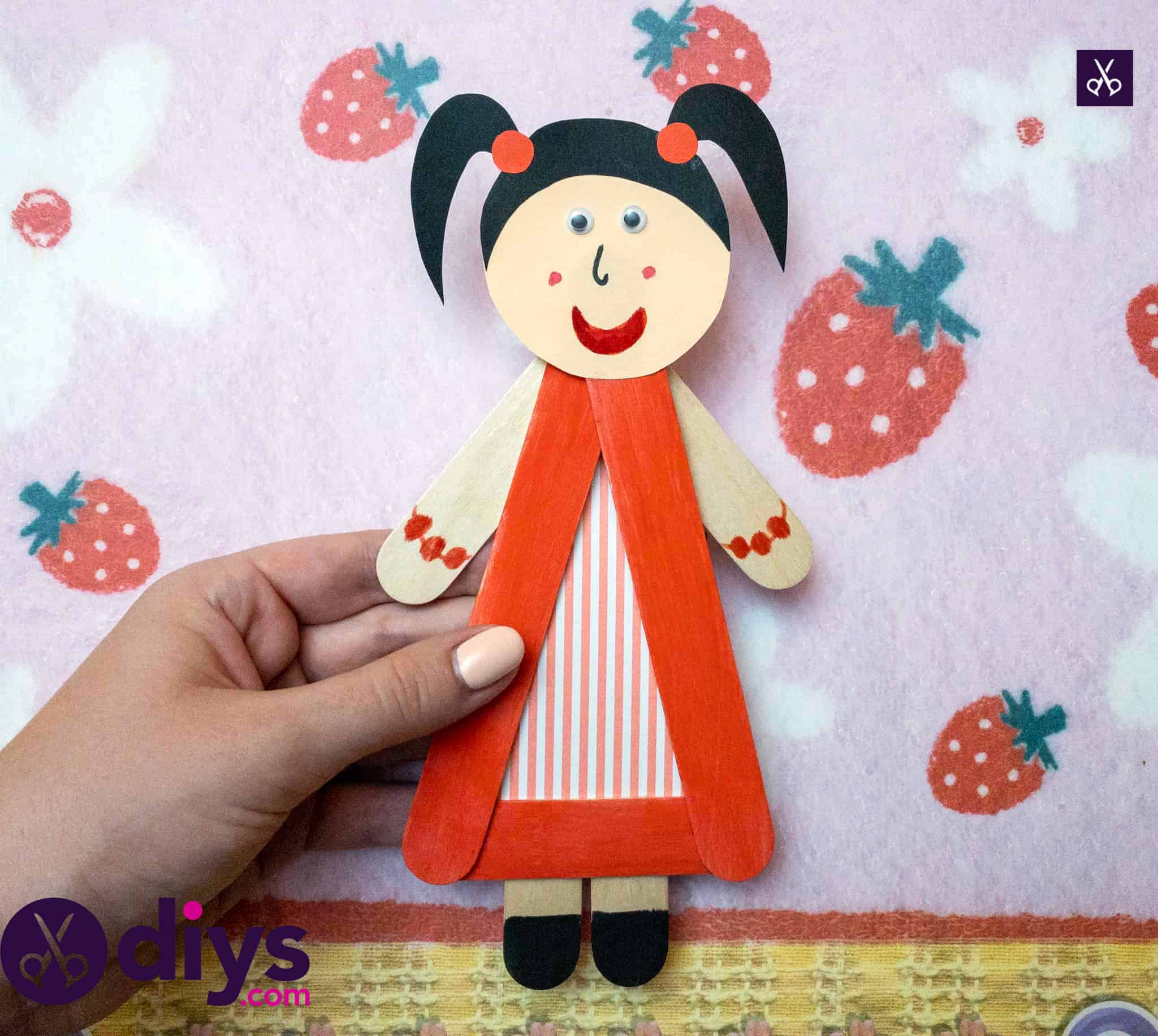 How to make a popsicle stick puppet craft
