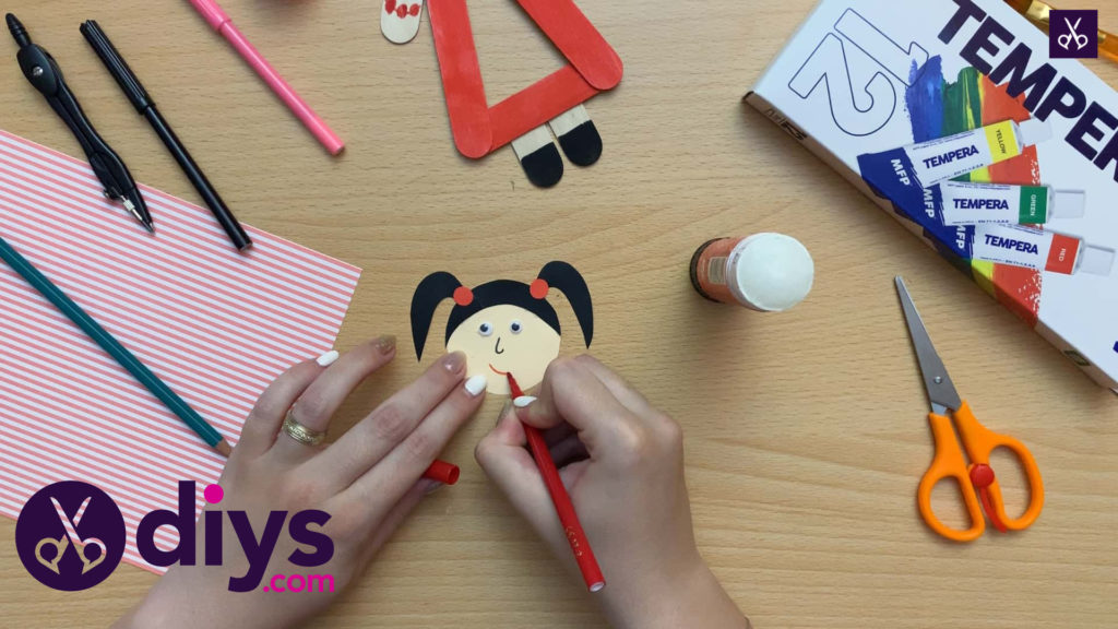 How to make a popsicle stick puppet draw