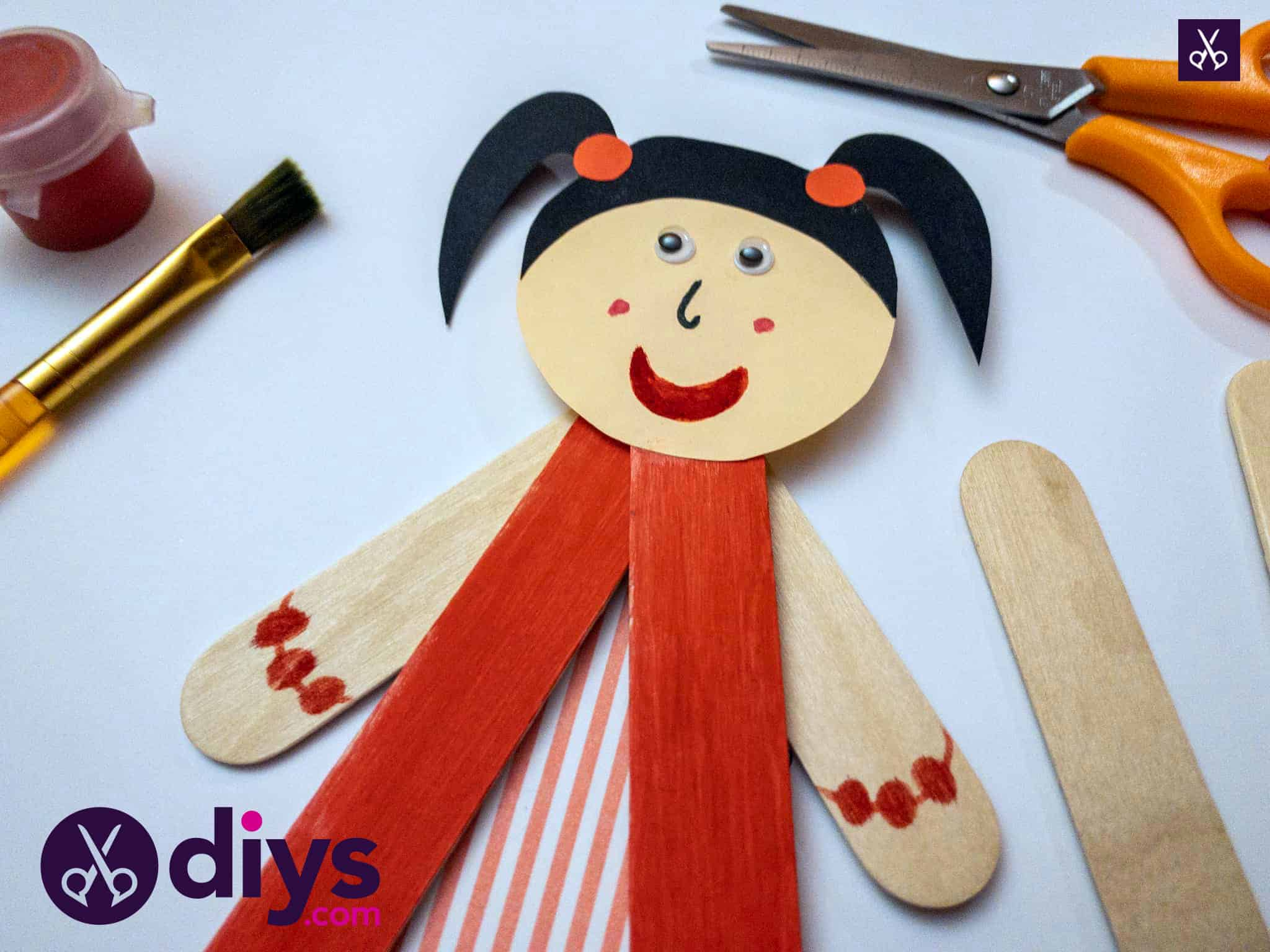 How to make a popsicle stick puppet for kids