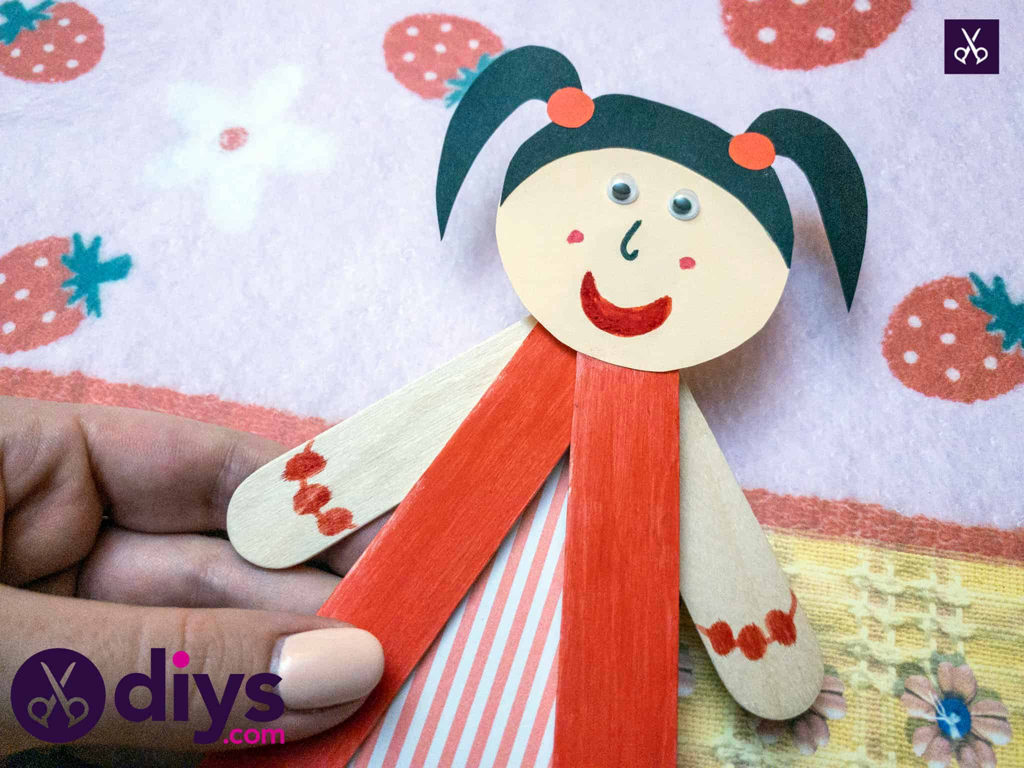 How to make a popsicle stick puppet simple diy