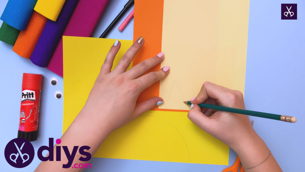 How to make a rainbow paper sun draw