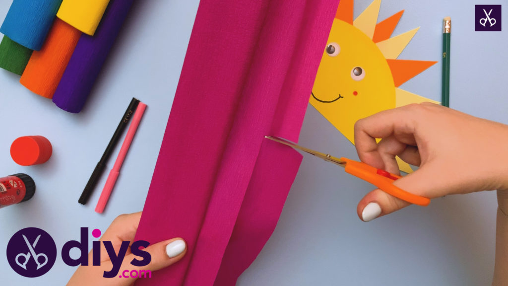 How to make a rainbow paper sun cutting