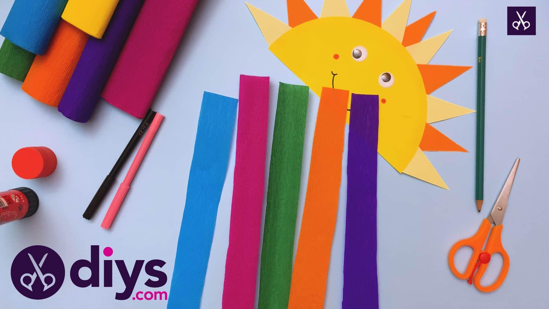 How to make a rainbow paper sun glue