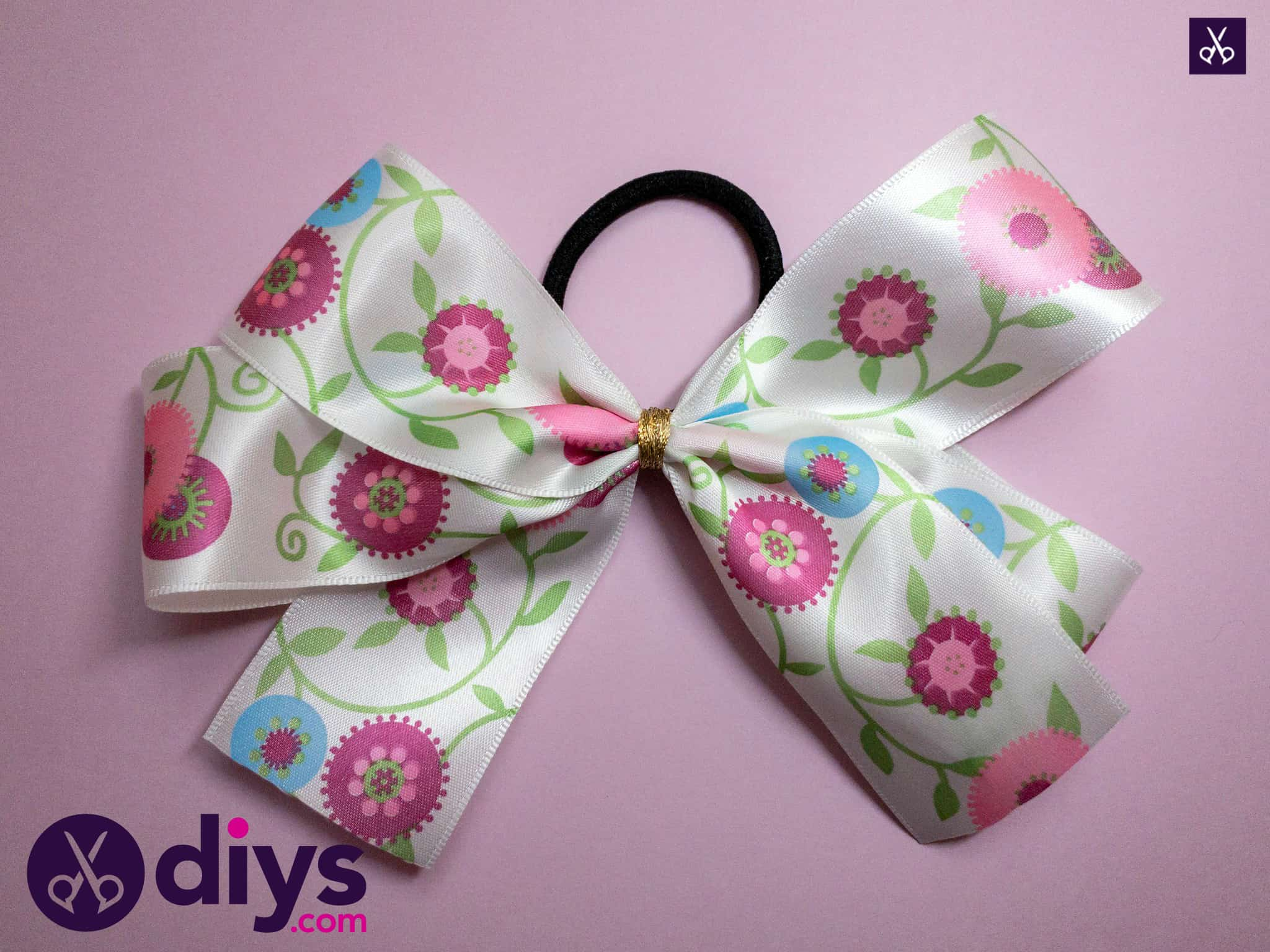 How to make a ribbon double bow craft