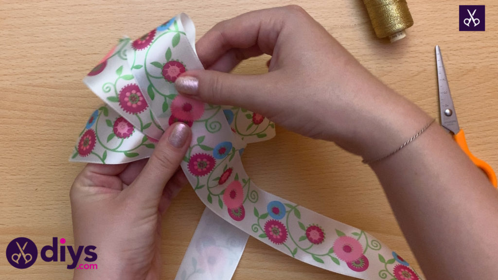 How to make a ribbon double bow create