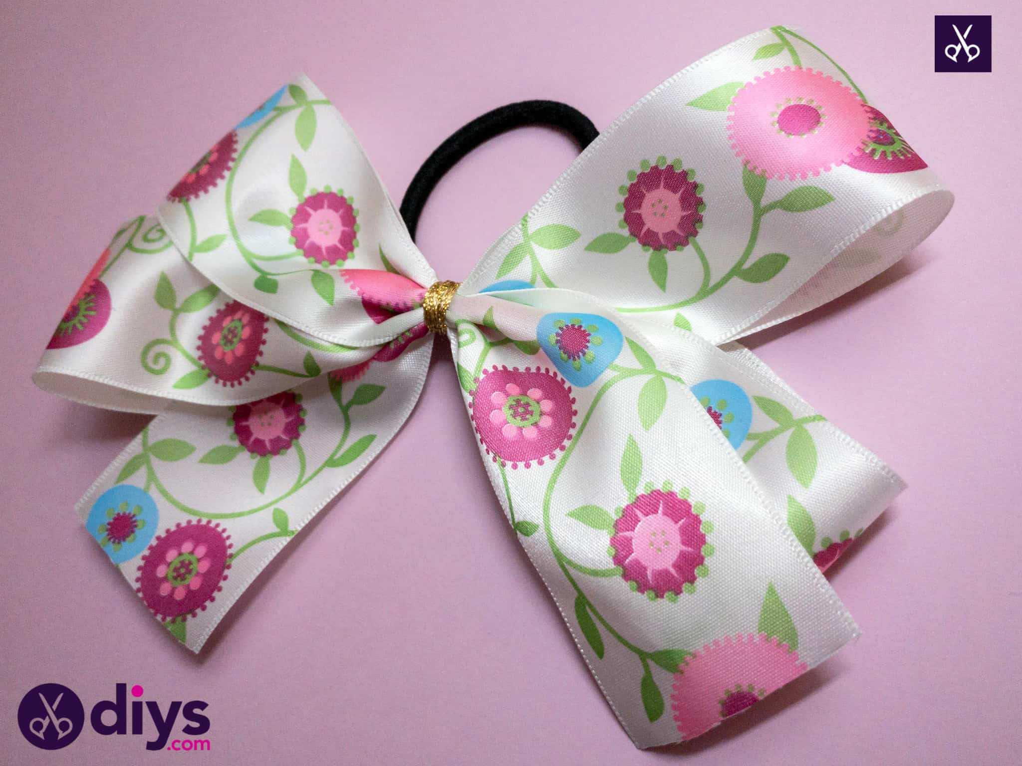 How to make a ribbon double bow