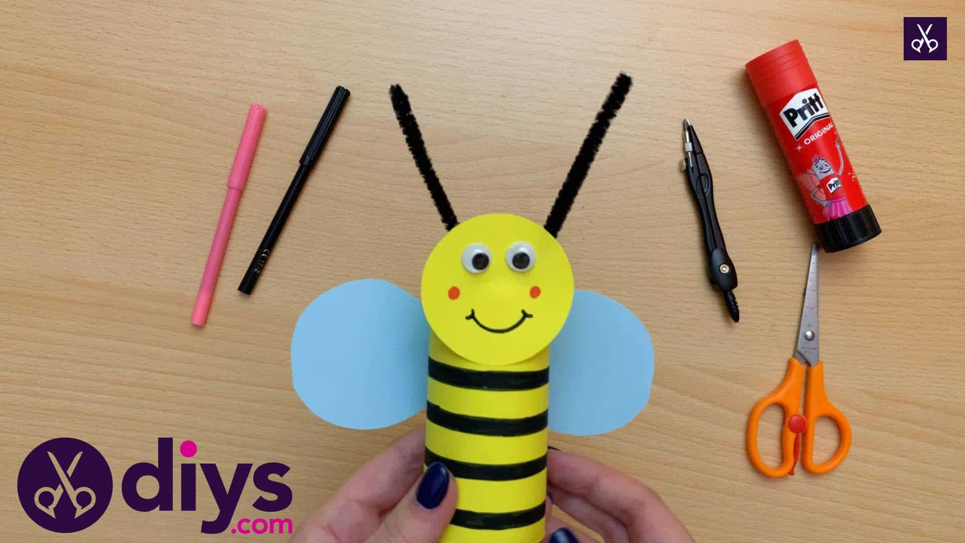 How to make a toilet paper roll bee how to recyecle toilet paper