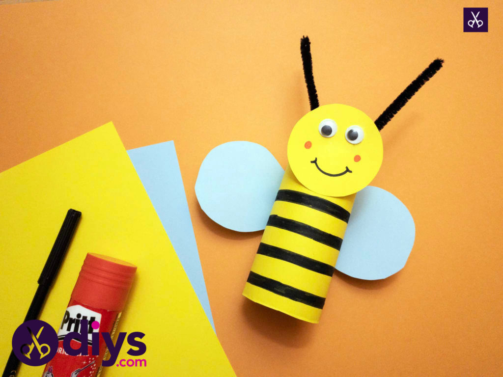How to make a toilet paper roll bee kids in mind