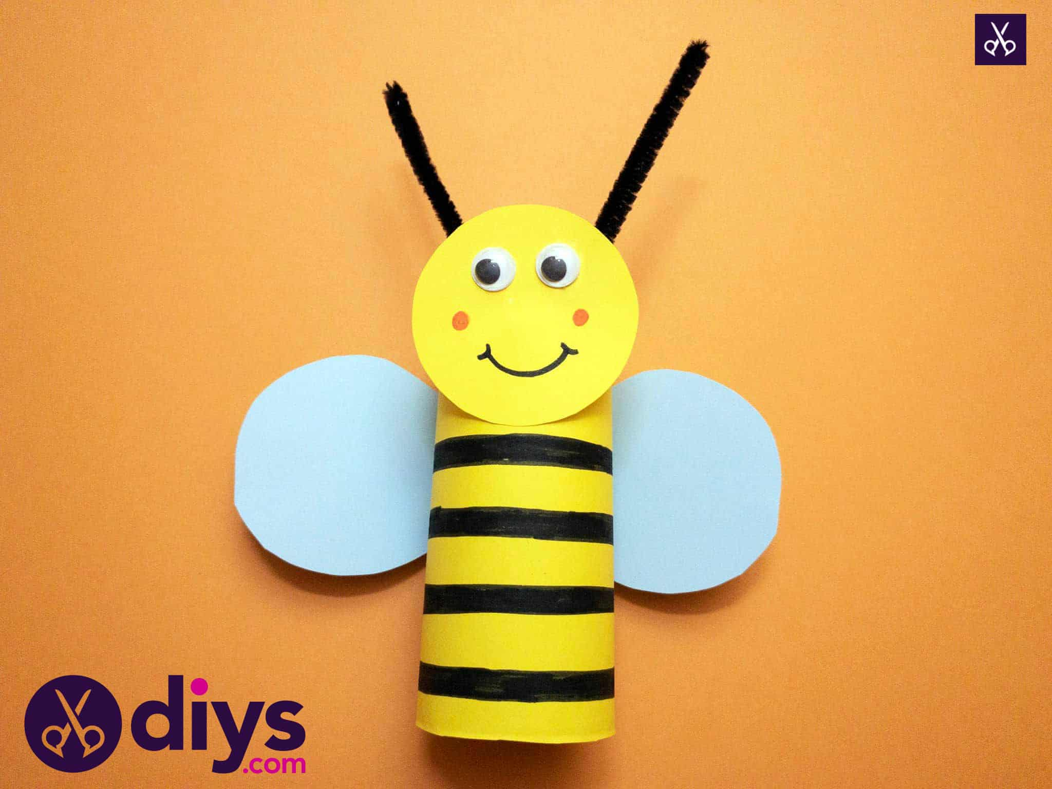 How to make a toilet paper roll bee