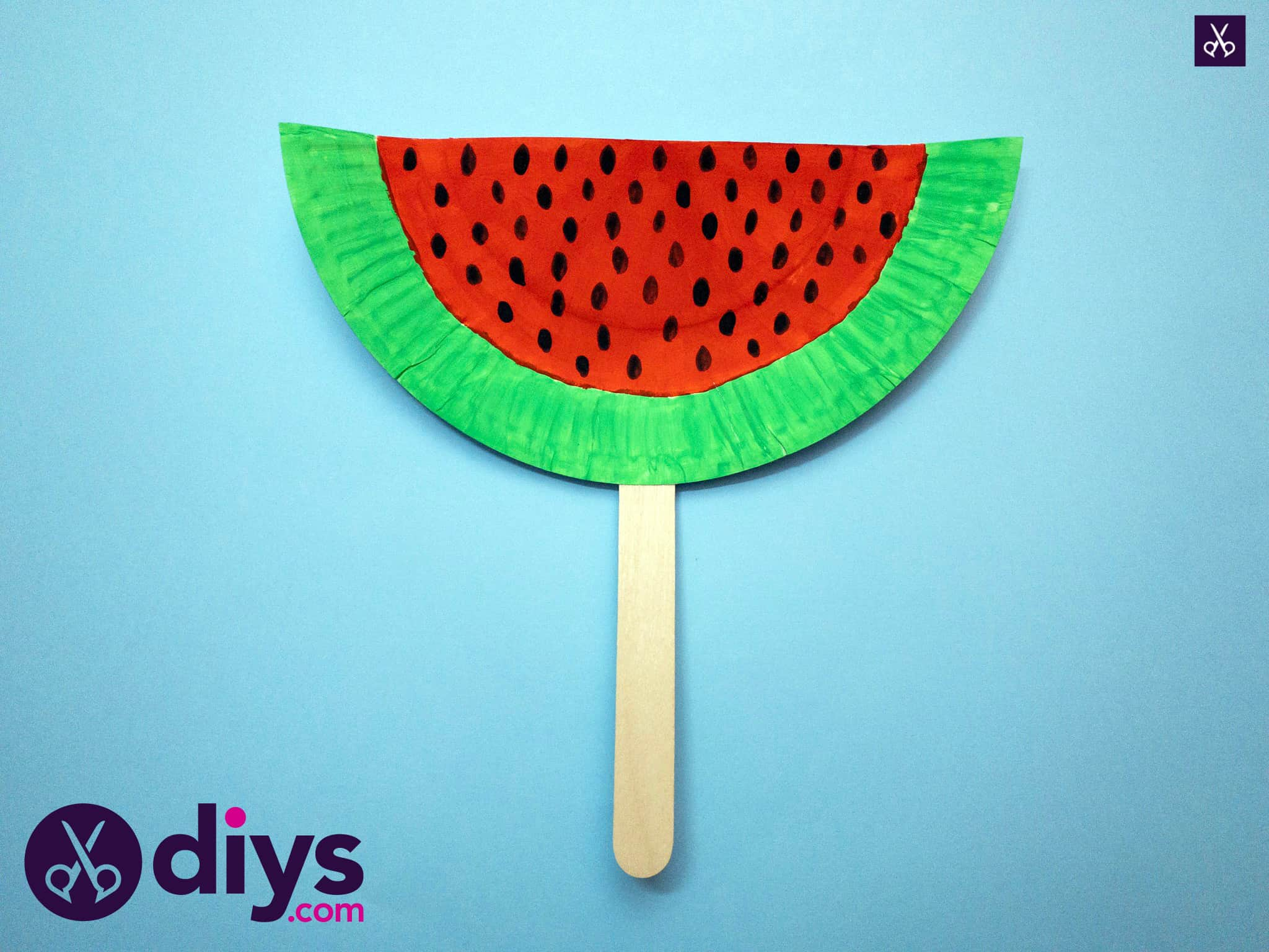 How to make a watermelon paper fan for summer
