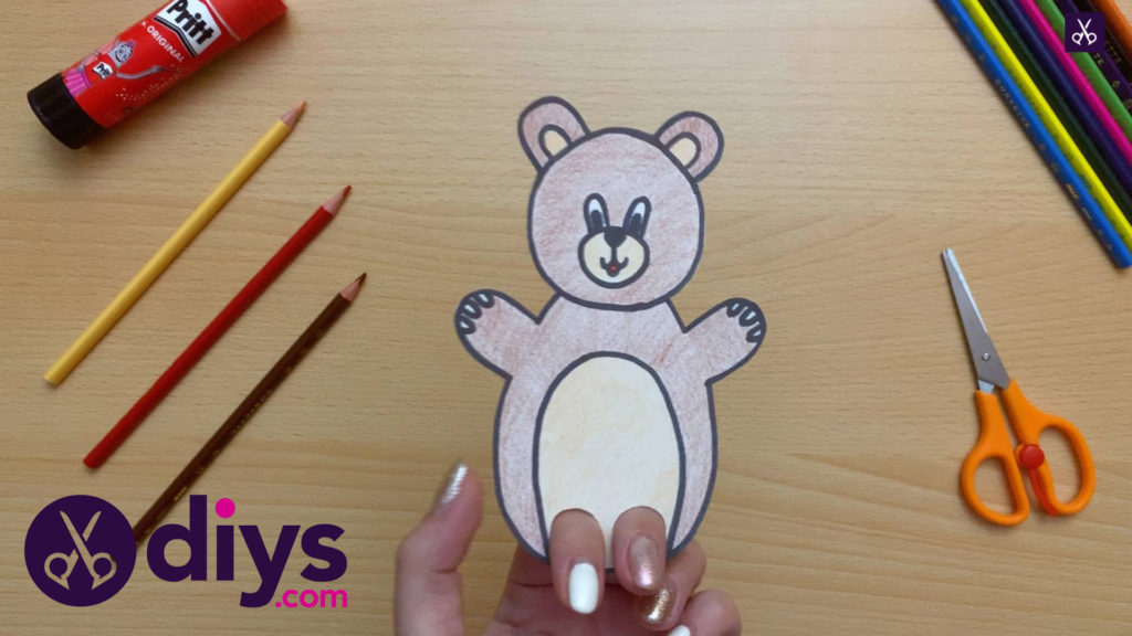 How to make an adorable bear finger puppet
