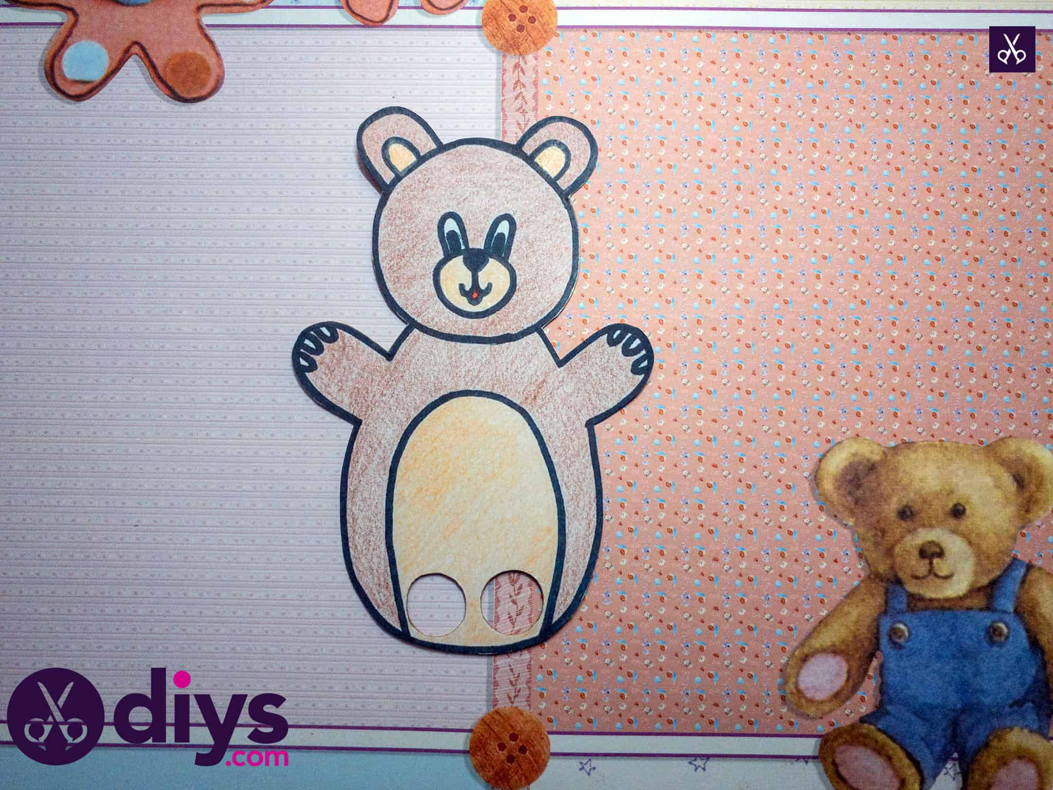 How to make an adorable bear finger puppet funny craft