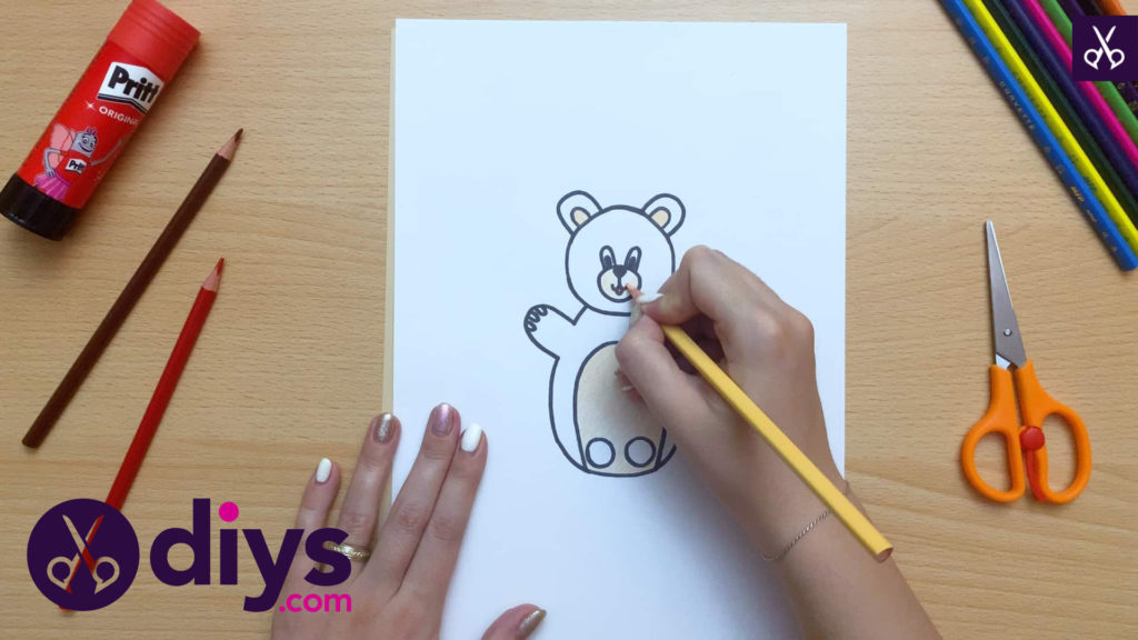 How to make an adorable bear finger puppet draw
